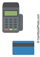 Credit card payment - Bank terminal and credit card vector...