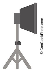 Photo studio lighting equipment vector flat design...