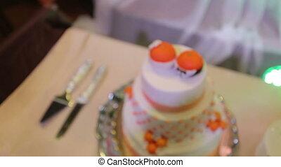 wedding cake on banquet