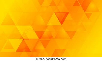 Bright orange geometric tech video animation - Bright orange...