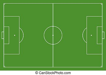 Soccer field, vector illustration Football field with lines...