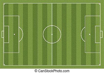 Soccer field, vector illustration