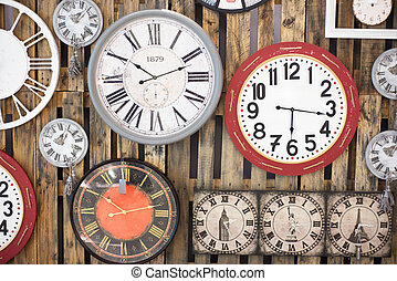 Antique Clock old time passing - An Antique Clock old time...