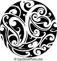 Maori circle tattoo - Circle shape tattoo with Maori style...