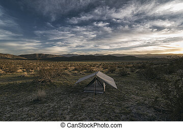 Camping in the Desert - Camping in the Anza-Borrego Desert,...