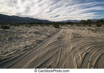 Landscape in the Anza-Borrego Desert - Desert Landscape in...