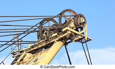 The excavator at the mine