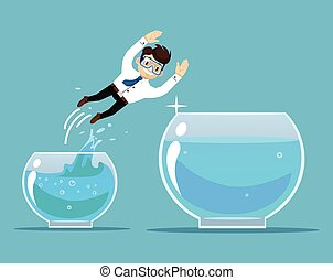 Business success Vector flat illustration