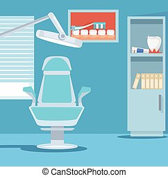 Dental office. Vector flat illustration