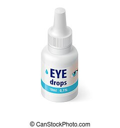 Medical Bottle - Illustration of Medical Bottle for Eye...