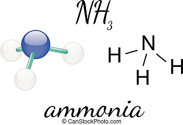 NH3 ammonia molecule - NH3 ammonia 3d molecule isolated on...