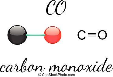 CO carbon monoxide molecule - CO carbon monoxide 3d molecule...