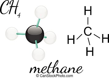 CH4 methane molecul - CH4 methane 3d molecule isolated on...