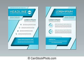 Vector brochure flyer template A4 size Front and back page -...