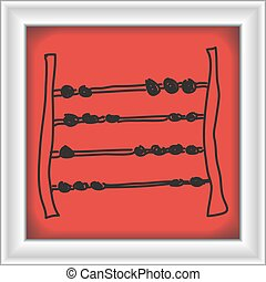 Simple doodle of an abacus - Simple doodle of a hand drawn...