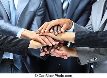 group of business people - Closeup portrait of group of...