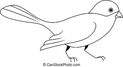 White silhouette of a bird.