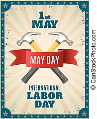 May Day background - May Day May 1st background with two...