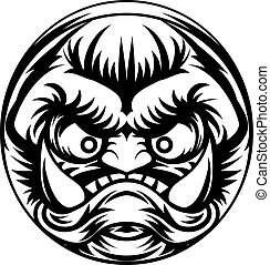 Troll or Monster Icon - An illustration of a stylised troll...