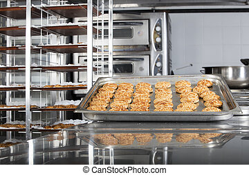 production of tasty cakes in the bakery