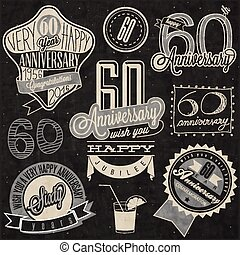 60th anniversary collection - Vintage style 60th anniversary...