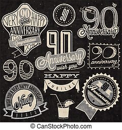 inetieth anniversary collection - Vintage style ninetieth...