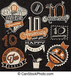 10 anniversary collection - Vintage style 10 anniversary...