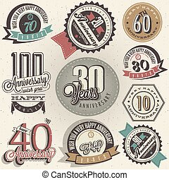 Anniversary sign collection