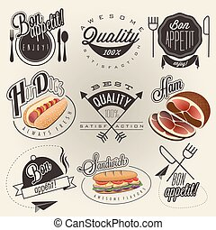 Typographic symbols for restaurant