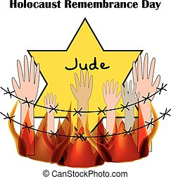 Holocaust Remembrance Day Vector illustration on isolated...