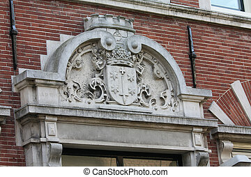 the city of Haarlem, Coat of arms - Plaque on a facade with...