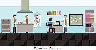 Big medical laboratory - Vector illustration of a big...