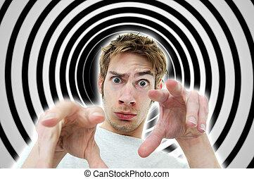 Hypnotist - Image of a hypnotist brainwashing the viewer...