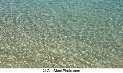 Shallow clear sea water ripples.