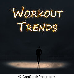 workout trends - Concept of workout trends with a person...