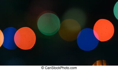 colorful lights bokeh background Full HD 1080p