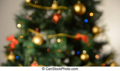defocused christmas tree lights. Full HD 1080p
