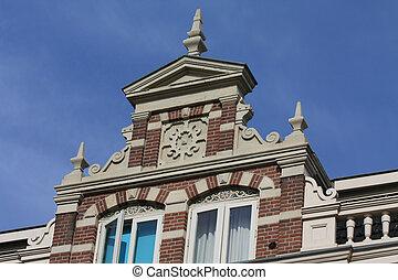 historic facade in Holland - A historic facade in the city...
