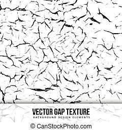 Gap texture Old color Vector background Chipped wall