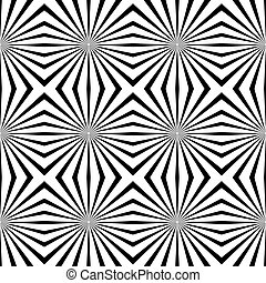 Vector geometric illusions tile