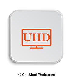 Ultra HD icon Internet button on white background