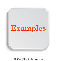 Examples icon Internet button on white background