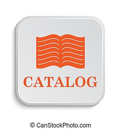Catalog icon Internet button on white background