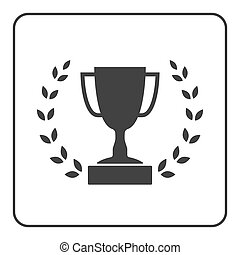 Trophy cup with Laurel wreath icon