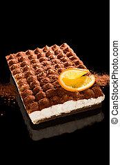 Delicious tiramisu dessert. - Delicious tiramisu dessert...