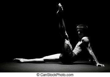 Ballet dancer in black - Creative picture with dancer in...