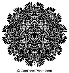 Round Ornament Pattern. - Mandala Round Ornament Pattern...