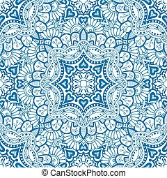 Blue seamless pattern. Design for dutch tile, background,...