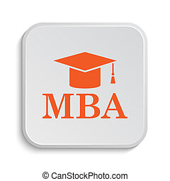 MBA icon Internet button on white background