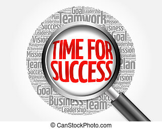Time for Success word cloud